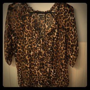 Express cheetah print top